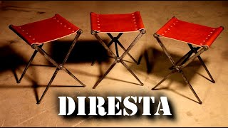 DiResta Steel & Leather Folding Stools