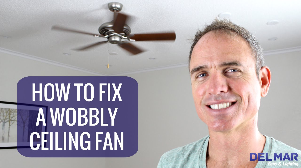 How to fix a wobbly ceiling fan youtube aloadofball Image collections
