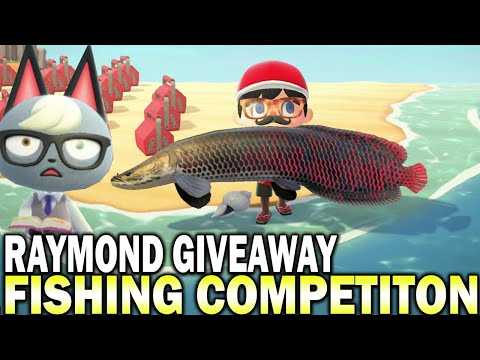 Raymond Giveaway Fishing Competition! Animal Crossing New Horizons Gameplay