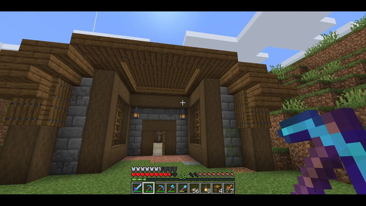 Minecraft Survival Let's Play 1 14 - Episode 03 - Nether Star, Speed Mining  and First Raid
