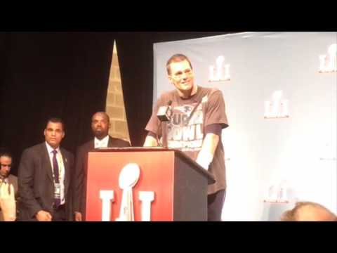 Tom Brady, Super Bowl LI MVP, reacts to the Patriots