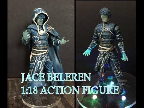 "MTG - Magic the Gathering Jace Beleren 1:18 Scale 4"" Custom Action Figure."