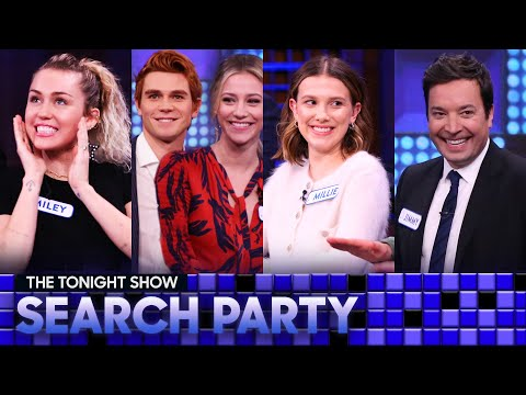 Tonight Show Search Party with Miley Cyrus, the Riverdale Castandthe Stranger Things Cast