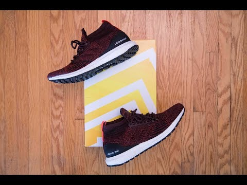 a-water-resistant-ultra-boost-mid?!-||-adidas-ultra-boost-all-terrain-burgundy-review-and-on-feet