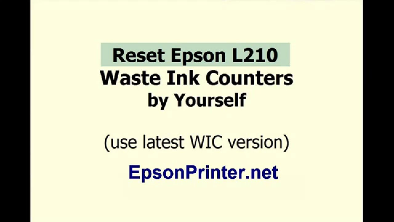 Use Free TRIAL WIC Reset Key - Reset Waste Ink Counter | Epson Reset