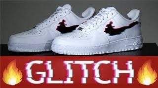 CUSTOM GLITCH AIR FORCE 1