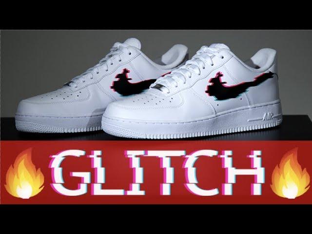 CUSTOM GLITCH AIR FORCE 1 - YouTube