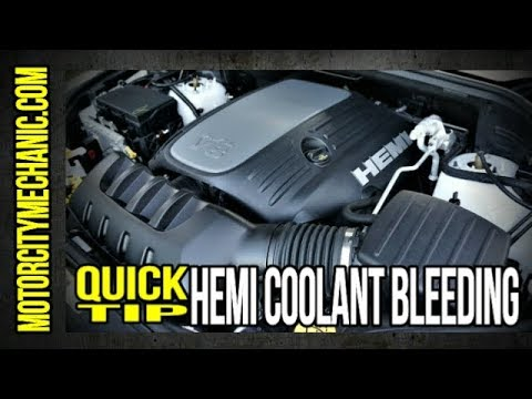 quick tip: 5 7 hemi coolant bleeder location and fill procedure