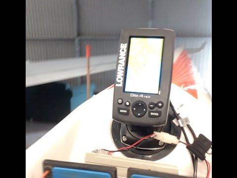 Lowrance Elite-4 HDI surf ski install