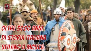Antichi Popoli nella sfilata a Times And Epochs, festival di rievocazione in Russia. Giugno 2017