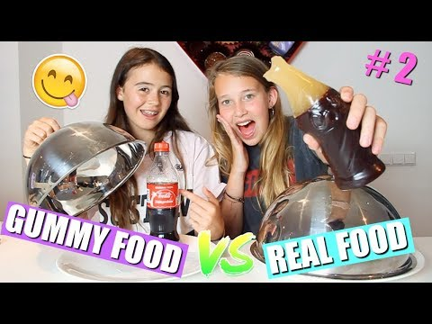 GUMMY  FOOD VS REAL FOOD CHALLENGE! | DEEL 2
