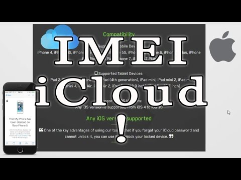 iCloud Unlock IMEI 2017 iPhone 7/6s/6/5s/5/4s How to !!! ?