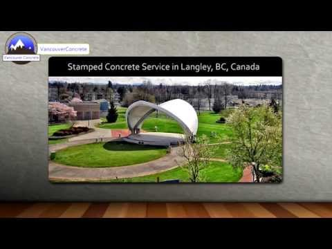 Stamped Concrete Langley, BC, Canada