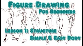 How to Draw People - EASY Body Tutorial - Step By Step for Beginners