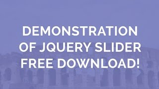 Demonstration of jQuery Slider - Free Download! thumbnail