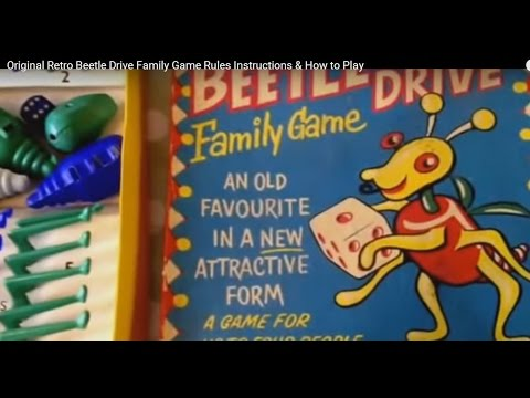 Original Retro Beetle Drive Family Game Rules Instructions ...