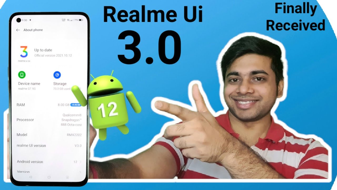 Download Realme Ui 3.0 Update Size & Features Finally Received Android 12 🔥🔥😍