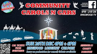 Ringwood Community Carols and Cars is good to go!
