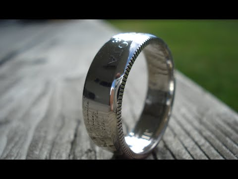 Advanced Coin Ring Making - Removing The Lips... Beauty is in the Details