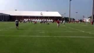 Nick Saban opens up his 8th year at Alabama. Jake Coker & Blake Sims going through QB drills