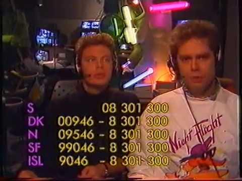 TV Scandinavias NIGHTFLIGHT natten mot den 29 oktober 1988