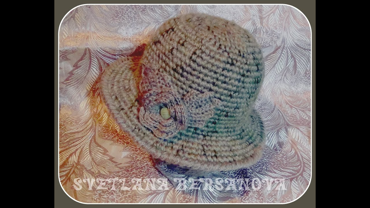 Теплая шляпка крючком. Часть 2 .Crochet hat w - YouTube