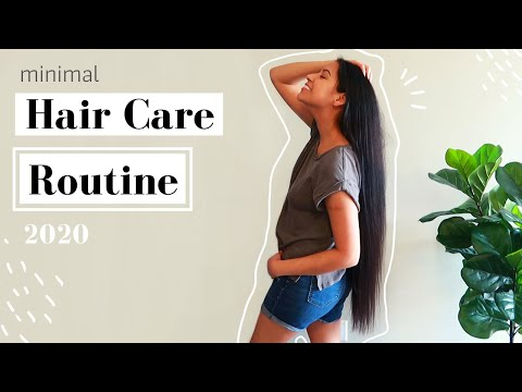 My EXTREMELY MINIMALIST  Long Hair Care Routine // Native American Hair Care // 2020