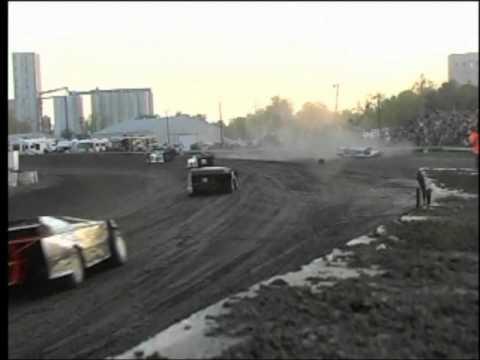 Jay Morris Farmer City Raceway Barrell Roll
