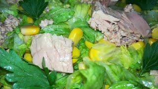 Салат из рыбных консервов/Рыбный Салат на праздничный стол