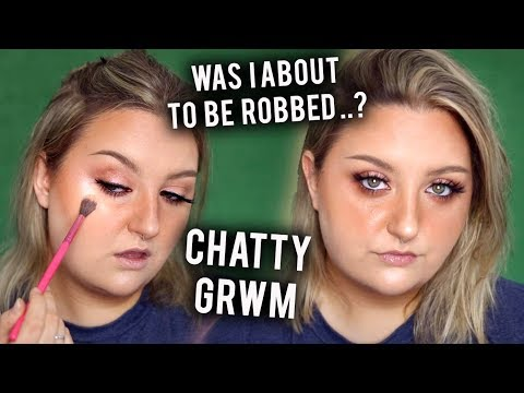 WERE WE ABOUT TO GET ROBBED..? CHATTY GRWM | FAUX FRECKLES & BIG LASHES
