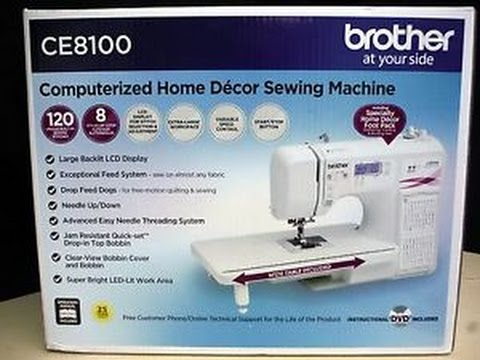 Brother CE40 Unboxing YouTube New Brother Ce8100 Sewing Machine