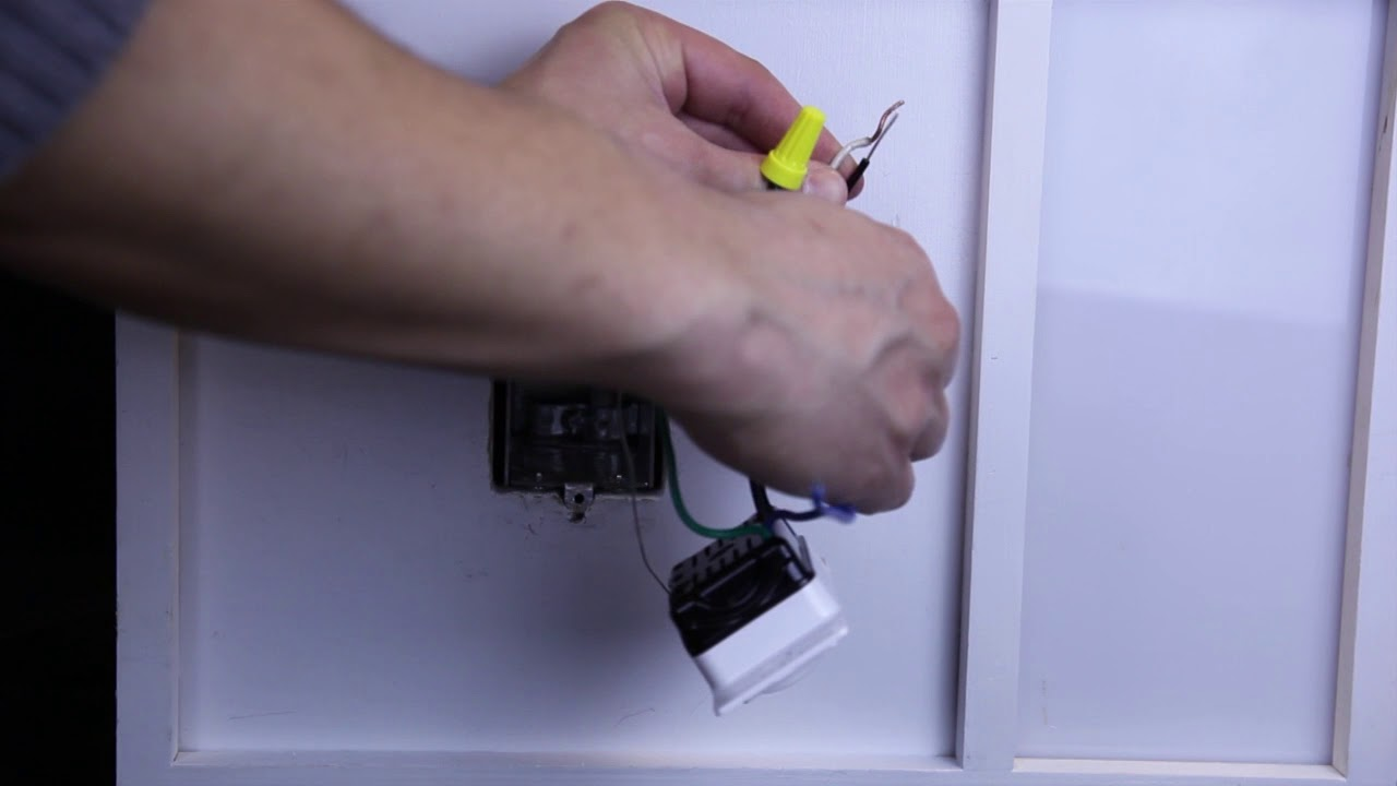 Wiring A Control With Two Black And One Blue Wire Single Pole Light Switch Switches Application