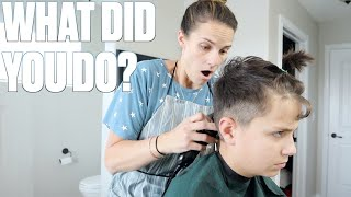 STAY HOME HAIRCUTS GONE WRONG | CUTTING OFF HAIR PRANK