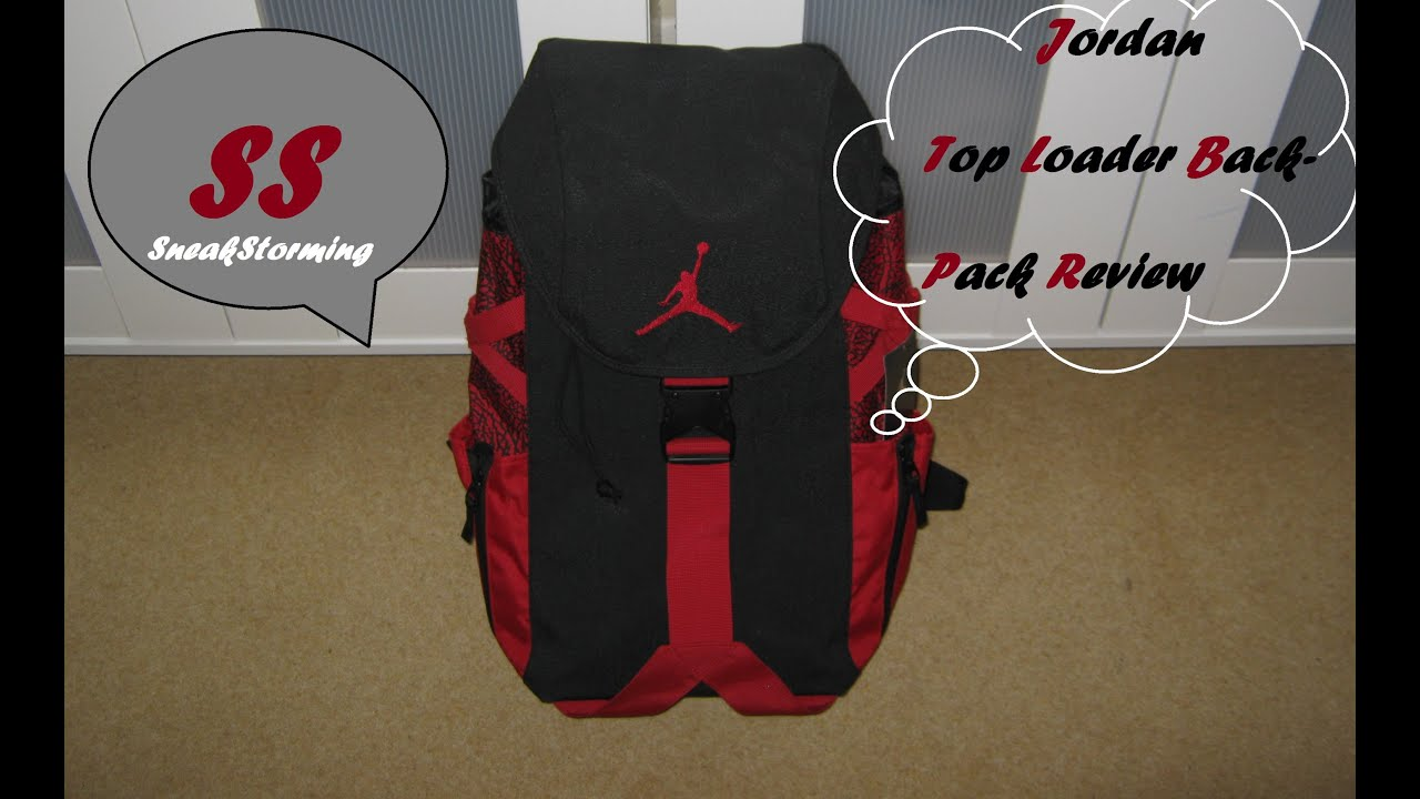 6dcd239364a0a1 Jordan Top Loader Backpack Review - YouTube