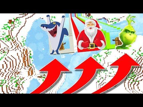 NE DESCENDEZ PAS DANS LE MAUVAIS TOBOGGAN MINECRAFT !! Sharko Père Noël Le Grinch ! SPÉCIAL NOËL !