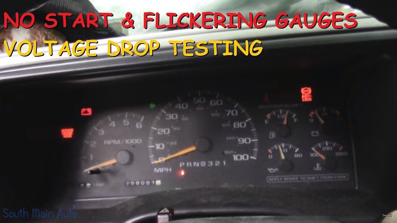Chevy Truck No Start Flickering Lights Gauges Voltage Drop Testing