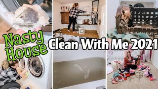 NEW 2021 NASTY HOUSE CLEAN WITH ME   2021 CLEANING MOTIVATION   NEW YEAR DEEP CLEAN AND DECLUTTER