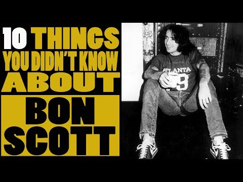 10 Things you didn't know about Bon Scott of AC DC
