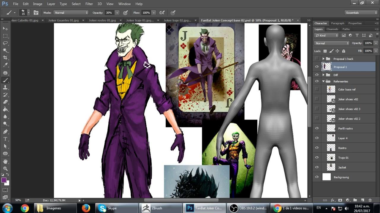 Personajes Dia 7 Joker WIP04 Painting