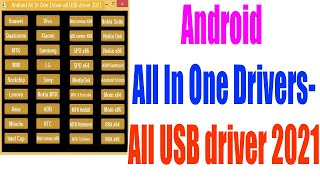 All Android Mobiles Usb Drivers Free Download for Windows 7/8/10   Usb Driver 2021 screenshot 3