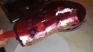 Творожный торт с ягодным желе