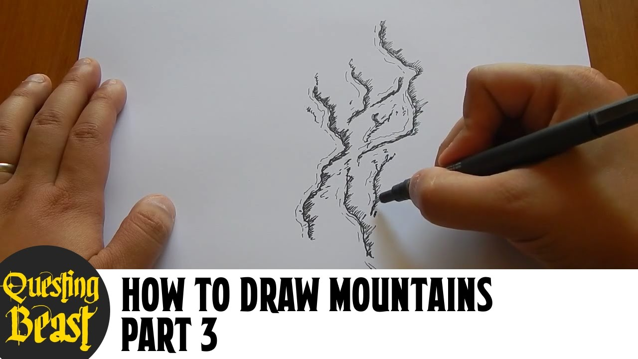 It is a picture of Insane Drawing Mountains On A Map