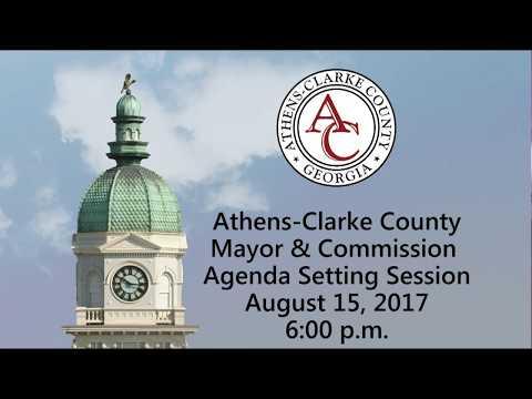 08-15-2017 Agenda Setting Session