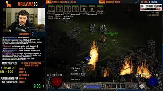 Diablo 2 - 8 MAN HELL 100% CHARITY SPEEDRUN/RACE!