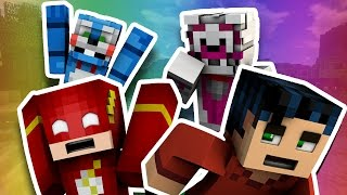 The Flash Meets Funtime Foxy And Bonbon -  Minecraft Fnaf Roleplay