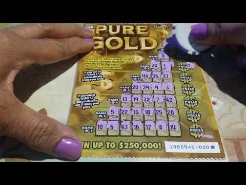 PURE GOLD WINNER - CALIFORNIA LOTTO SCRATCHER