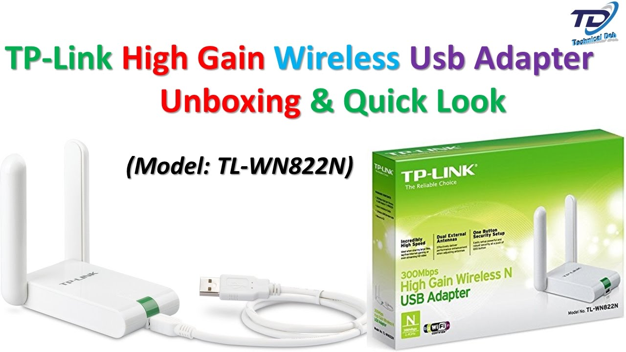 TL-WN822N  TP-LINK 300 MBPS HIGH GAIN WIRLESS USB ADAPTER