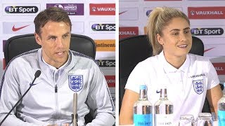 Phil Neville & Stephanie Houghton Full Pre-Match Press Conference - England Women v Wales Women