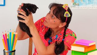 Alena and a funny story about school! Back to School DIY Ideas by Chiko TV