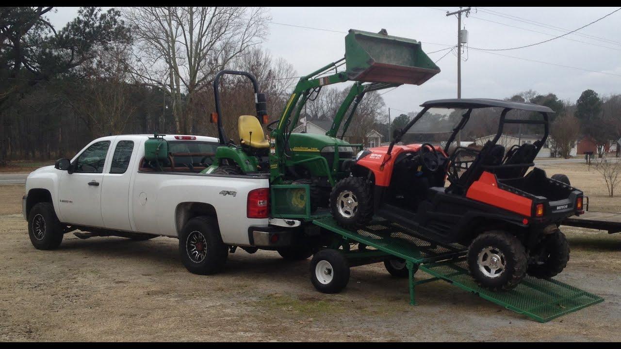 the best pickup truck loading ramp ever youtube. Black Bedroom Furniture Sets. Home Design Ideas